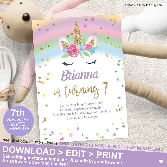 magical rainbow unicorn 7th