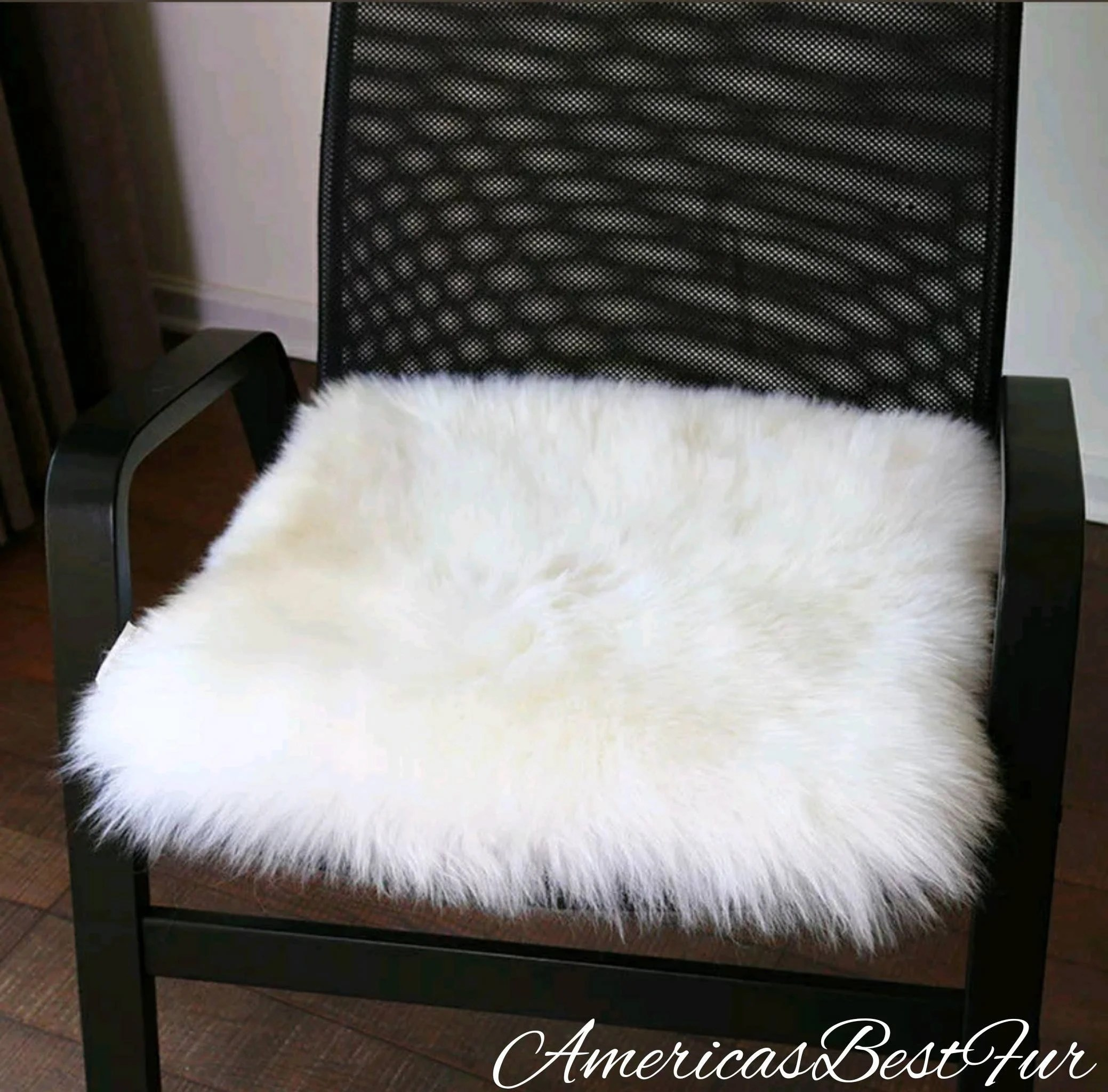 faux fur chair cover big joe bean bag filler etsy covers snow white wedding ceremony event luxurious pads