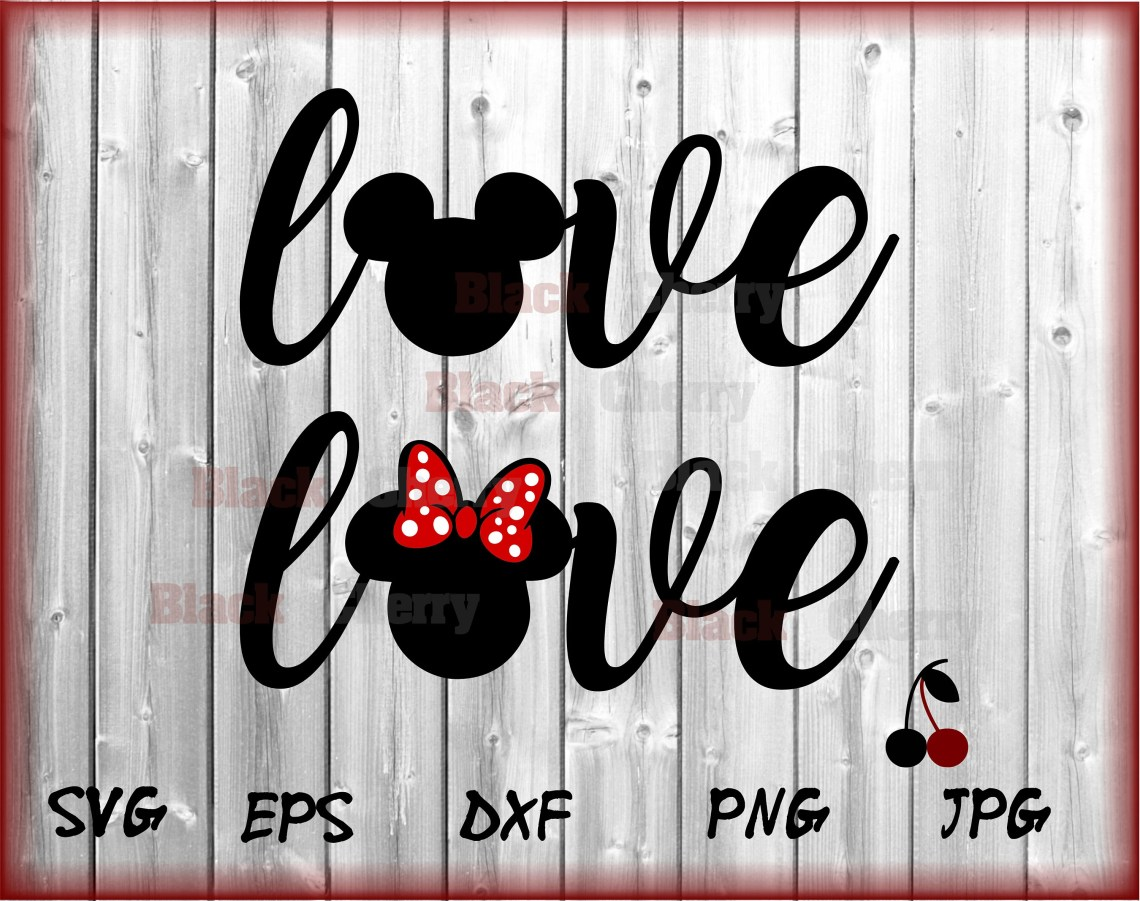 Download Love Wording Svg Disney Love Svg Mickey Minnie Designs cut ...
