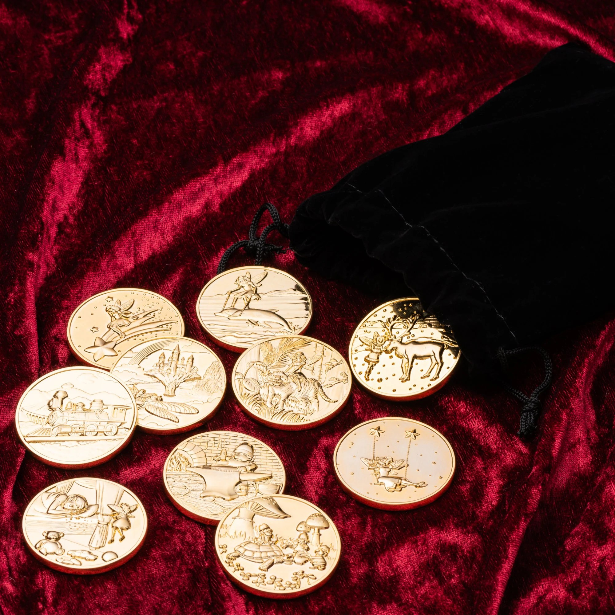 Tooth Fairy Coins Designer Set 1 goldplated image 2
