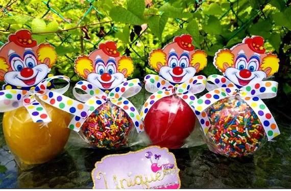 happy clown candy apple