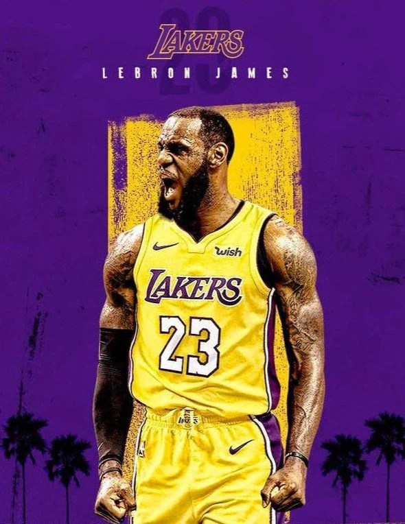 King Crown Hd Wallpaper Lebron James Lakers 23 Poster Or Canvas Etsy