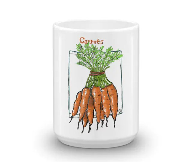 Carrot Lover Illustrated Coffee Mug