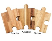 Puzzle dressing and cutting board (variant with 2 holes)