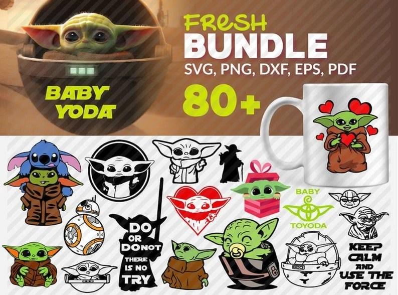 Download Baby Yoda SVG Bundle/ Over 80 Files/ Cricut/ SVG/ Cut File ...