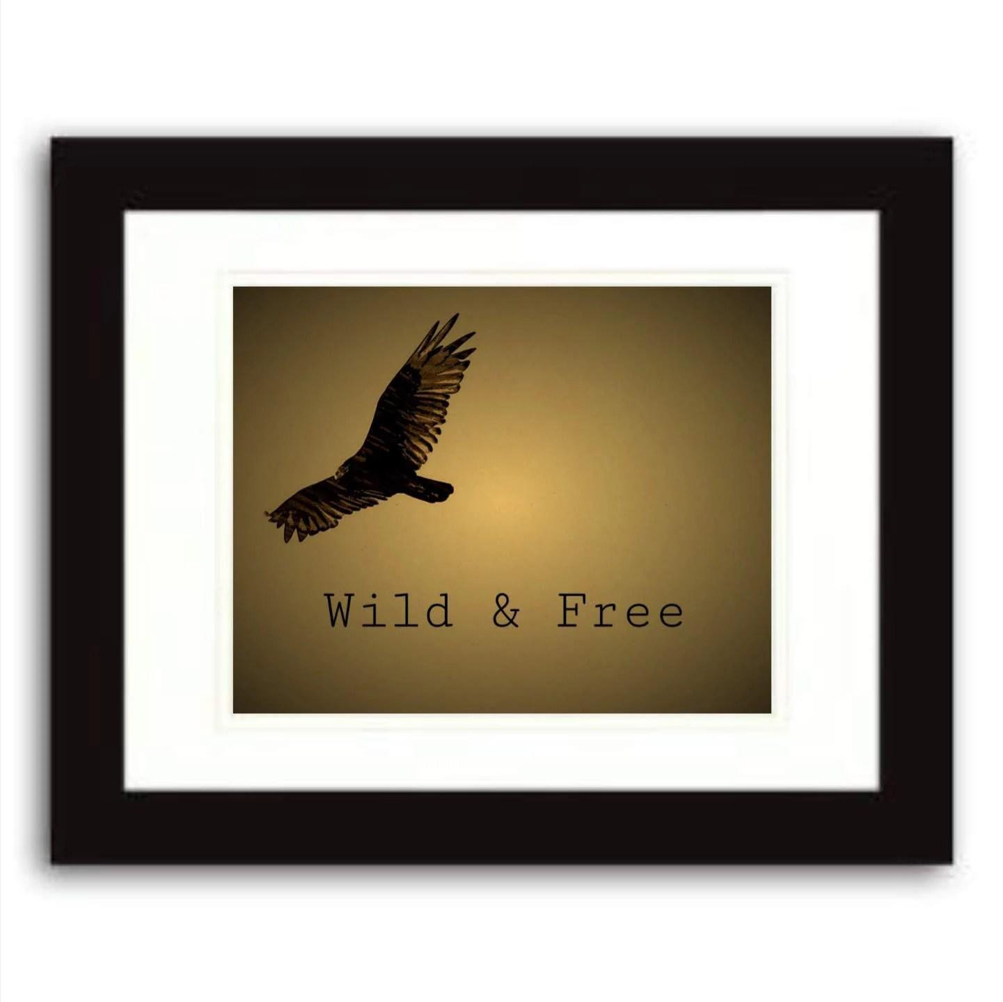 wild free quote print