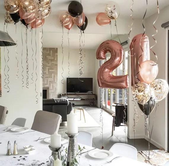 rose gold 21st birthday