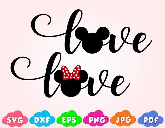 Download Love svglove mickey mouse svgLove Disney SVGlove minnie | Etsy