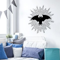 Bat Living Room Top Colors 2018 Wall Tattoo Animals In Black Etsy Image 0