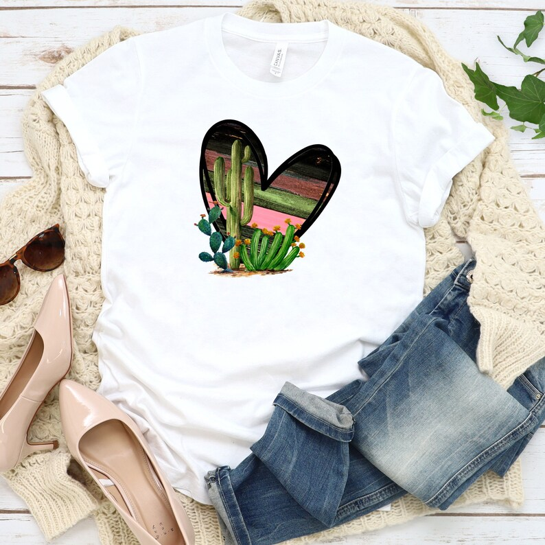Download Cactus and Heart PNG Love SVG Country Cactus Love Shirt | Etsy