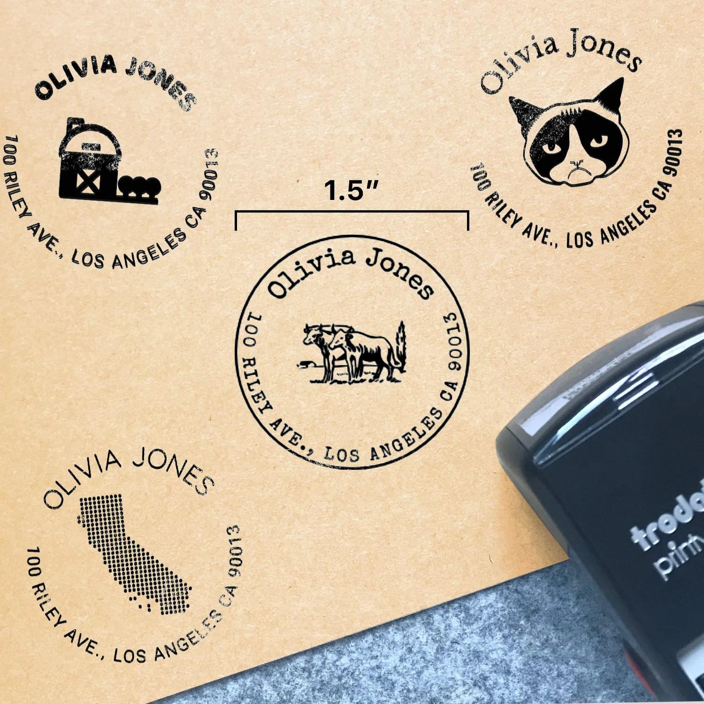 return address stamp etsy