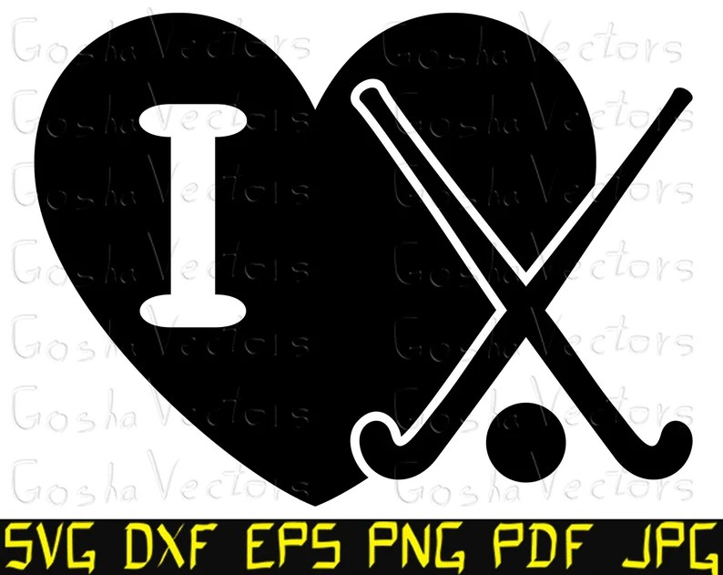 Download I love field hockey svg. Heart svg. Hockey stick svg. Cut ...