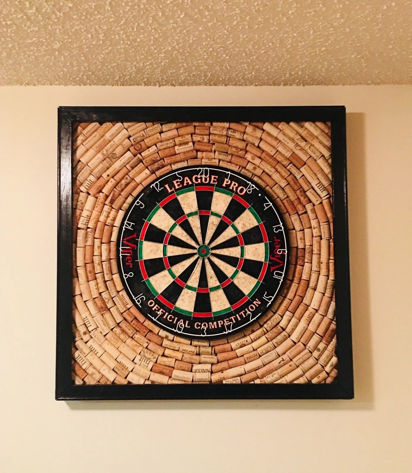 handmade wine cork dartboard