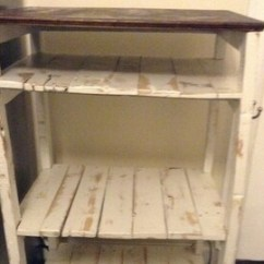 Wooden Kitchen Cart Satin Nickel Faucet Etsy Custom Reclaimed Wood