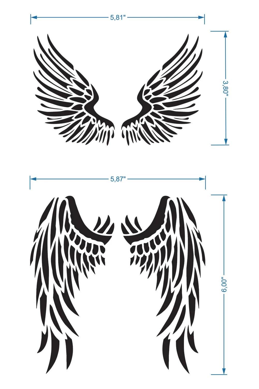 Angel Wings Stencil Reusable DIY Craft Mylar Big Size