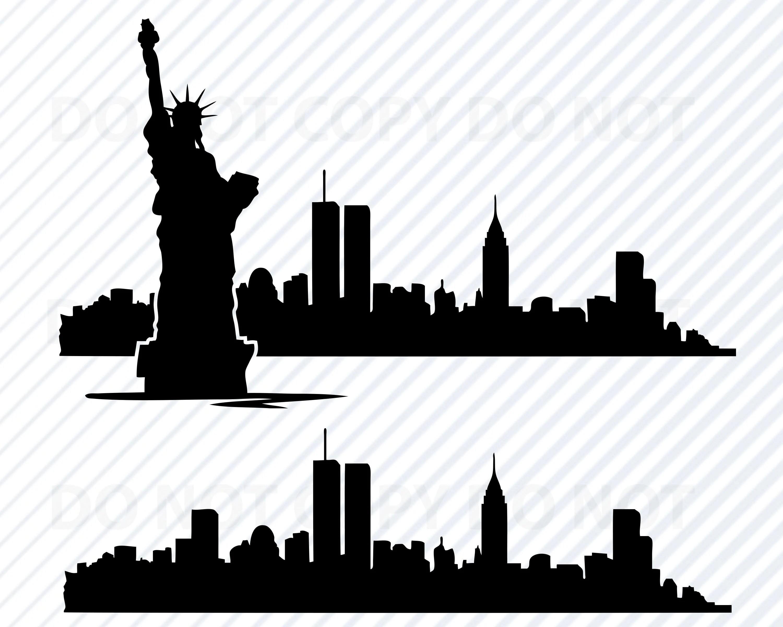 New York City Skyline Svg Files For Cricut Nyc Skyline Svg