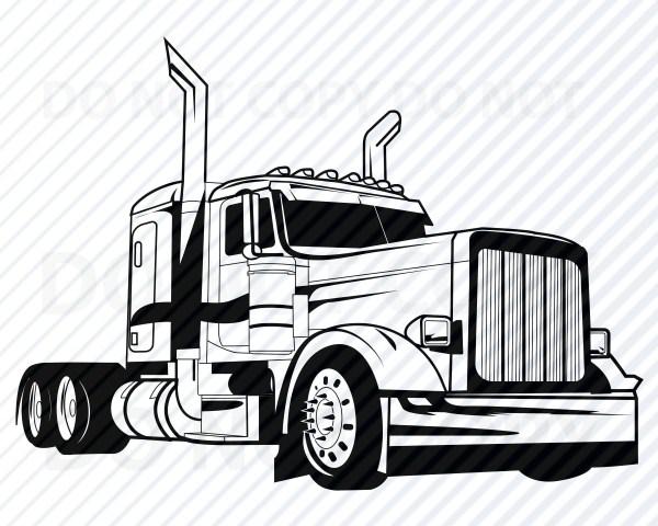 semi truck svg files cricut