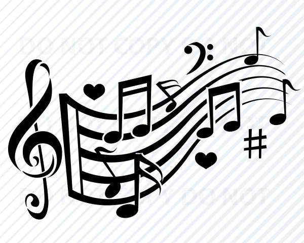 music notes svg files cricut