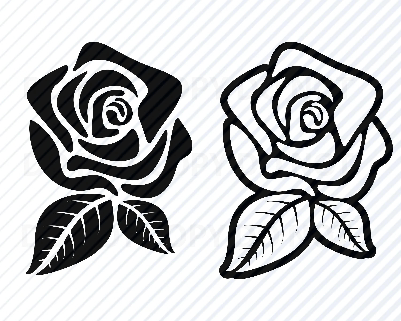 Black Rose Flowers Svg Files For Cricut Flower Vector