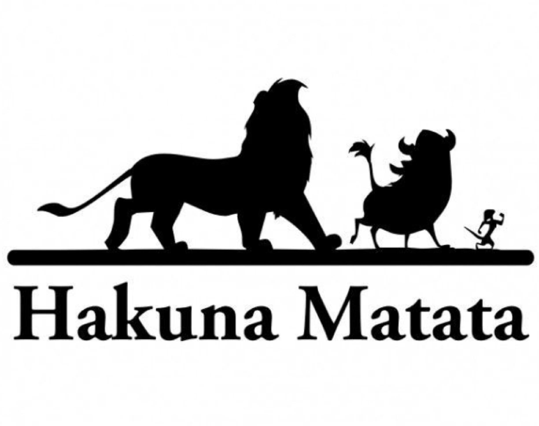 Hakuna Matata Silhouette Printed T Shirt