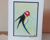 Greeting card/ART card - Hummingbird