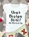 Arb Blanks Girls White T Shirt Mock Up Mockup Image Etsy