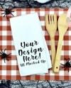 Items Similar To Waffle Weave Hand Towel Mockup Image Flat Lay Flatlay Kitchen Mock Up Sublimation Mock Up Halloween Theme Mock Up 8 19 On Etsy
