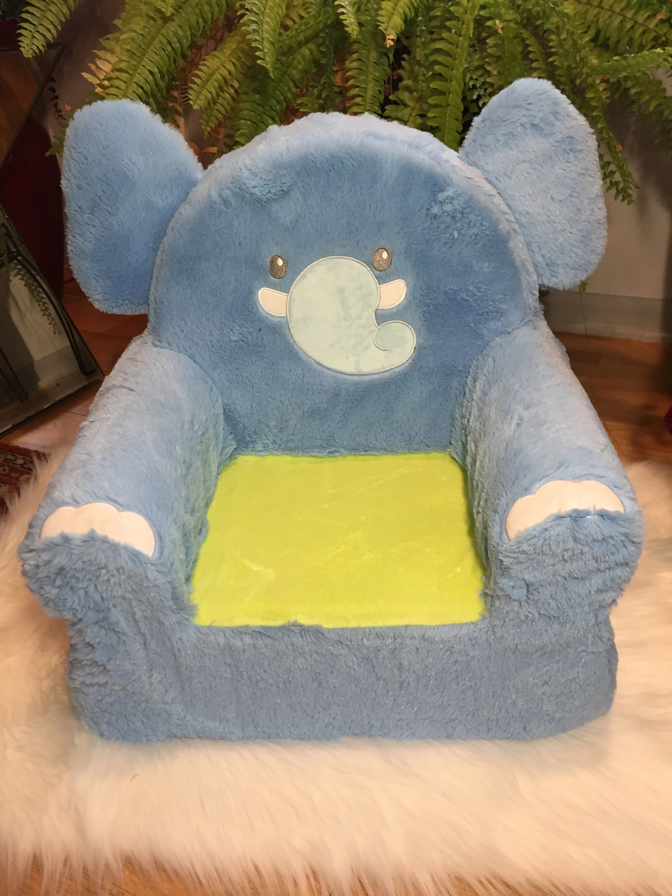 Monogrammed Toddler Chair Personalized Kids Chair Monogrammed Kids Chair Kids Lounge Chair Toddler Chair Plush Chair Elephant Chair