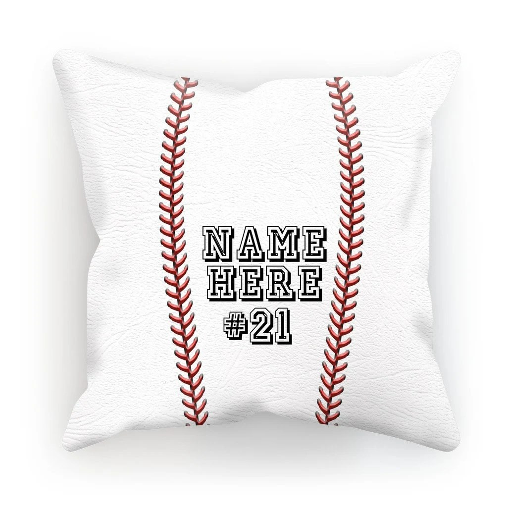 personalize pillow cover baseball