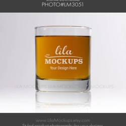 Whiskey Glass Mockup Photo Staged Photo Of A Whiskey Glass Etsy
