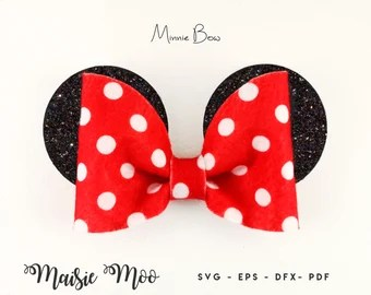 Minnie Mouse Bow Etsy