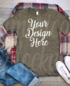 Christmas Bella 3001 Heather Brown Short Sleeve Crew Neck T Etsy