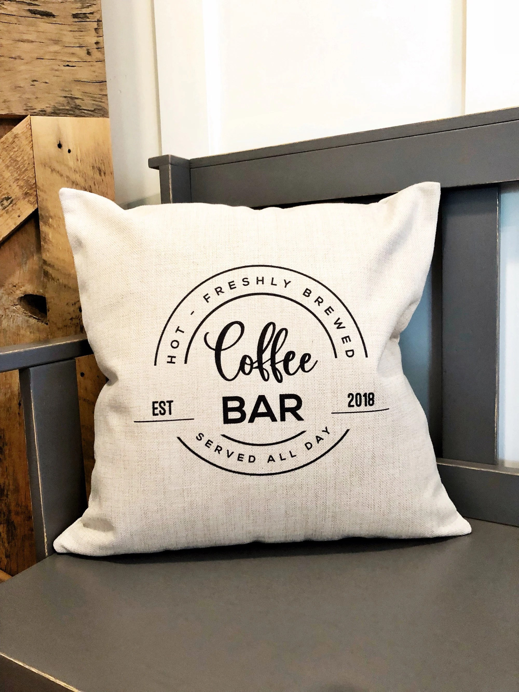 coffee pillow etsy