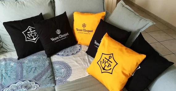 french veuve clicquot pillows decoration pillows champagne pillows french pillows