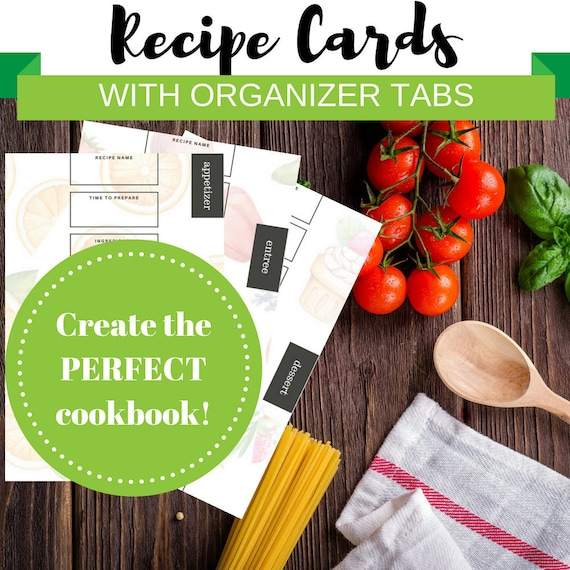 recipe cards cookbook creator
