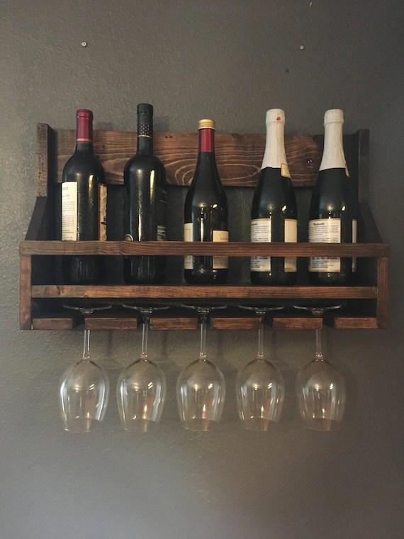 wooden wine rack bottle rack wine glass holder wine holder etsy