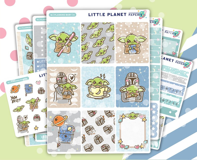 Baby Yoda Planner Stickers