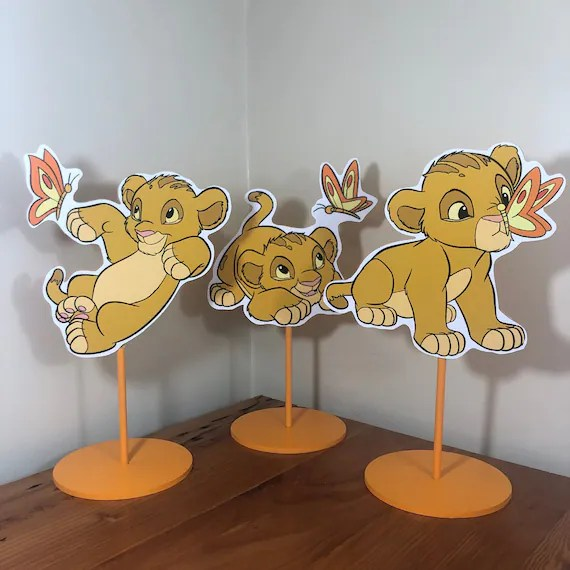 Baby Simba Lion King Themed Baby Shower Party Table Etsy