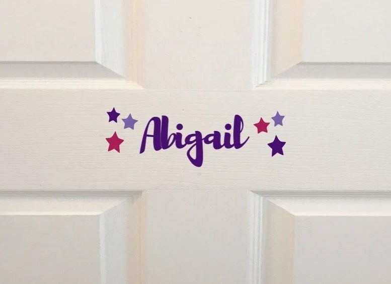Kids Room Name Decal Wall Decal Personalized Kids Door Sign Brusher