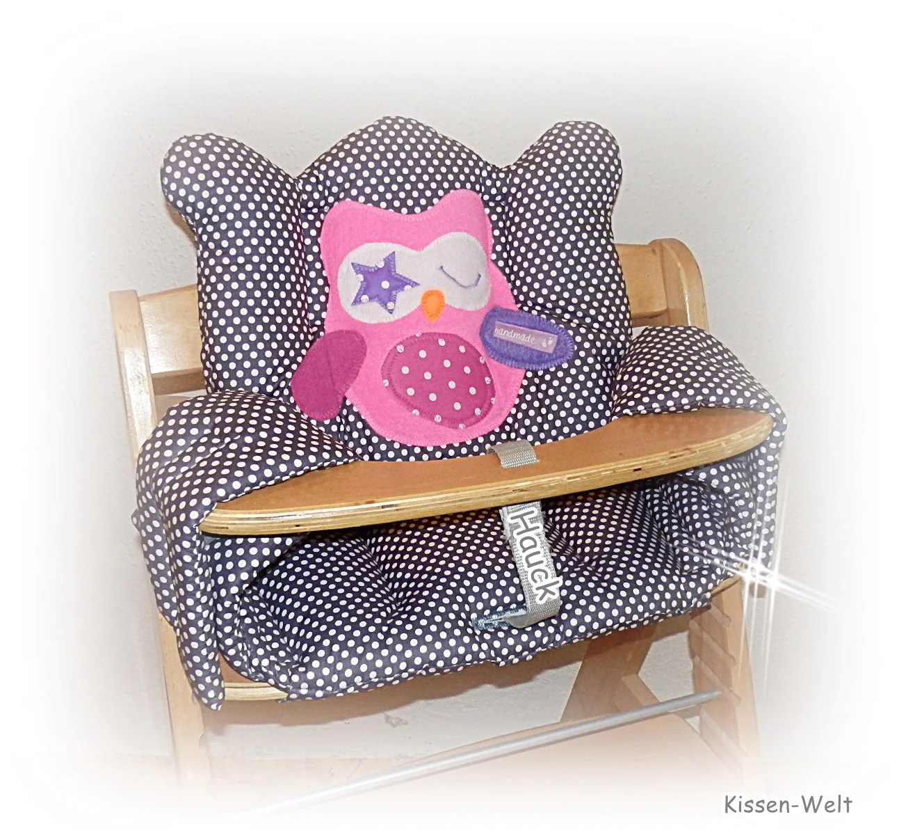Owl Chair 4pcs Washable Seat Cushion Owl For High Chair