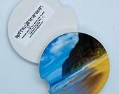 Polihale Kauai Custom Car Coasters - Polihale Kauai Sandstone Car Coaster