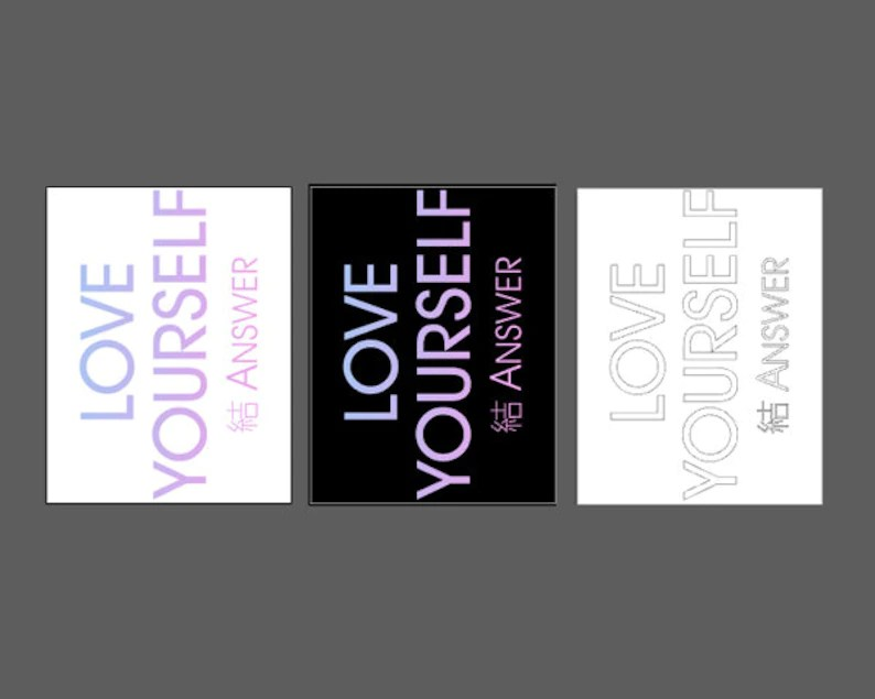 Download Love Yourself Answer svg pour BTS fans Army selflove club ...