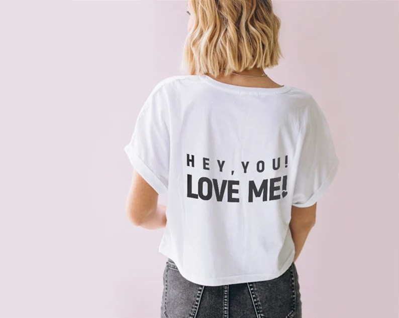 Download Hey you Love me svg slogan download positive Silhouette ...
