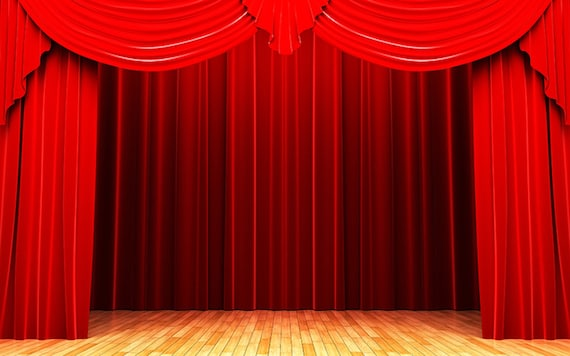 red curtain backdrop for photography backdrops theater scenes scene clip art graphics stage curtains background printed props jhgb172