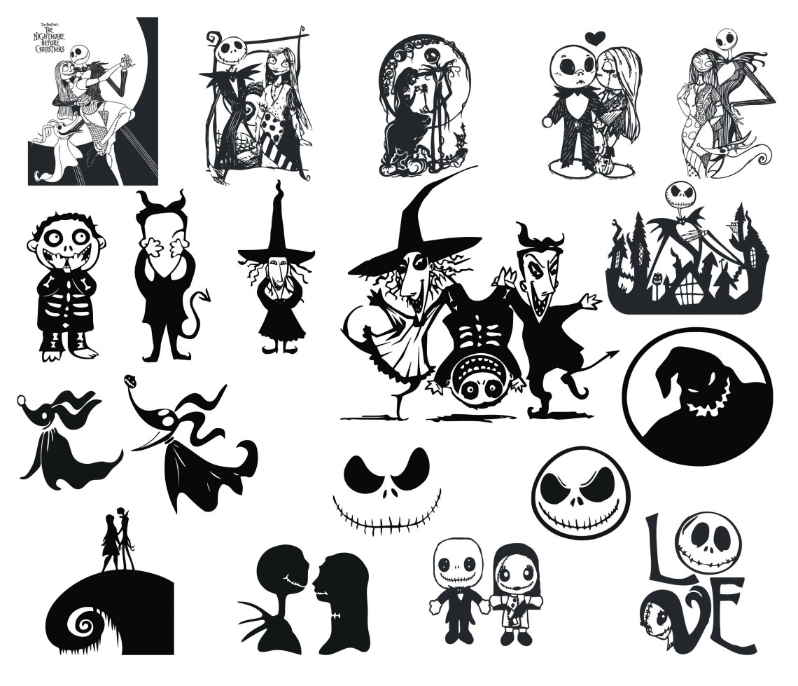Download Free font_Nightmare Before Christmas SVG PNG DXF | Etsy