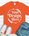 Red T Shirt Gildan Mockup 2000 Canvas Unisex Shirt Red T Shirt Etsy