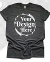 Png Bella Canvas 3001 Black Unisex T Shirt Mock Up Mock Up Etsy