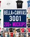 Bella Canvas 3001 T Shirt Mockup Mega Bundle 200 High Etsy
