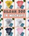 Mega Bundle 15 Mockups Gildan 500 Tshirt Multi Colors Mock Ups Etsy