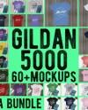 Bundle 60 Mockups Gildan 5000 Unisex Tshirt Multi Colors Mock Etsy